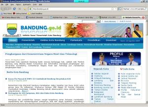 Website Kota Bandung